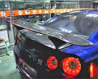 Carbon Fiber CAR REAR WING TRUNK LIP Double Deck SPOILER FOR Nissan GTR GT R R35 2008 2019