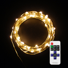 LED String Copper Wire Lights, Starry String Lights, 100 LEDs, 33 ft / 10 meters, Decorative Rope Lights For Christmas Party