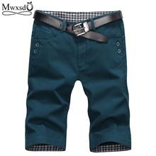 Mwxsd Brand Summer Fashion Mens Shorts Casual Cotton Slim Bermuda Masculina Beach Joggers Trousers Knee Length -38