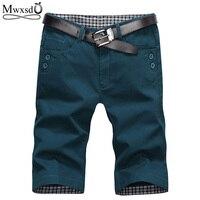 Mwxsd Brand Summer Fashion Mens Shorts Casual Cotton Slim Bermuda Masculina Beach Shorts Joggers Trousers Knee