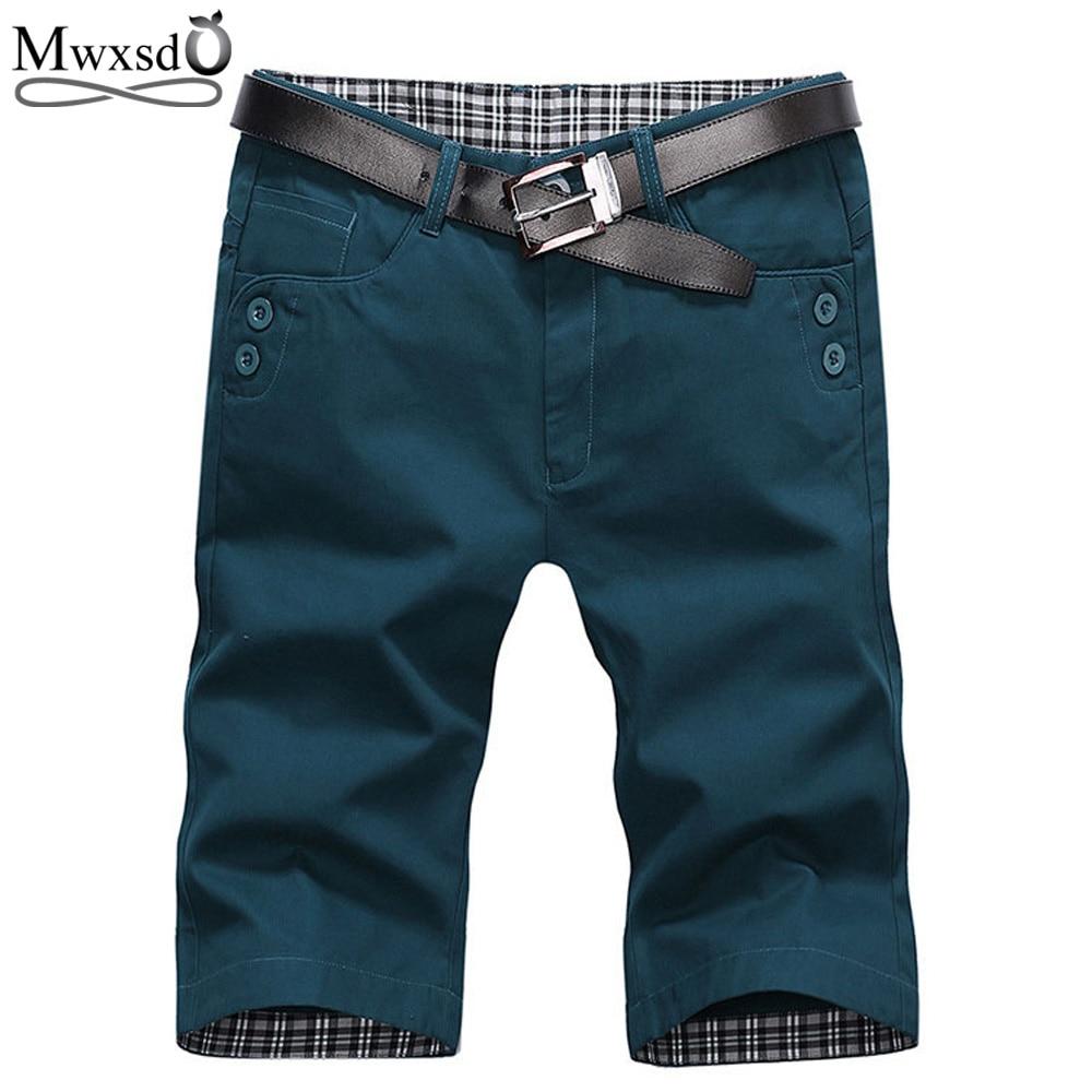 Mwxsd marca verão moda masculina shorts casuais algodão fino bermudas praia shorts joggers calças na altura do joelho shorts-38