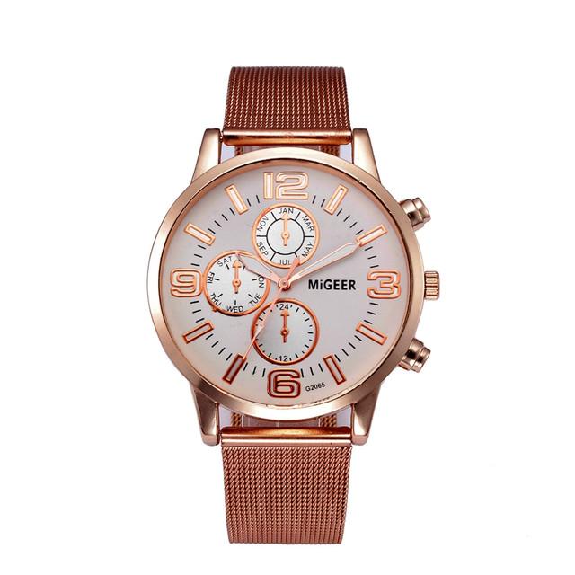 masculino watches men Fashion Luxury Crystal Stainless Steel Analog Watch Quartz Wristwatches Business reloj hombre