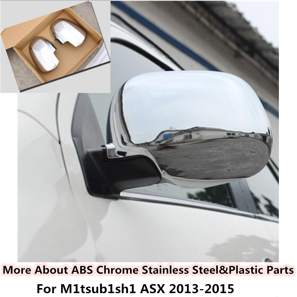 For Mitsubishi ASX 2013 2014 2015 ABS Chrome decoration font b Car b font stick rear