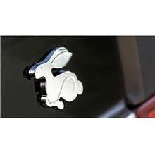 цена на 3D Metal sticker Running Rabbit Emblem Car Rear Trunk Badge for VW Jetta Golf GTI Polo Universal Car Accessories Car Decoration
