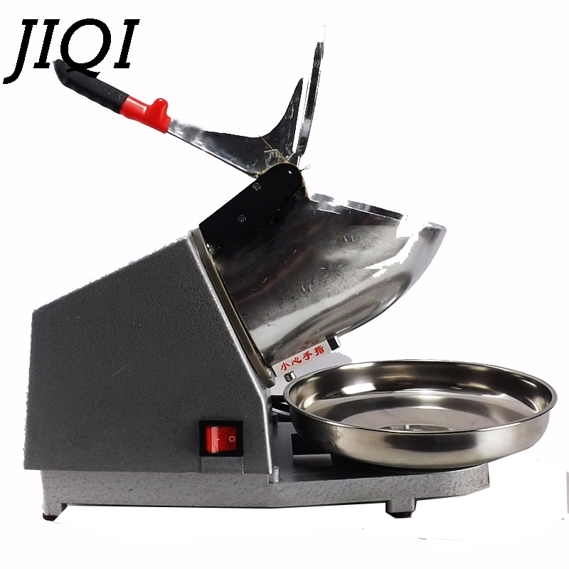 JIQI Stainless Steel electric Ice Chopper Crusher commercial ice slush sand shaver icecream snow cone Smoothie machine smasher
