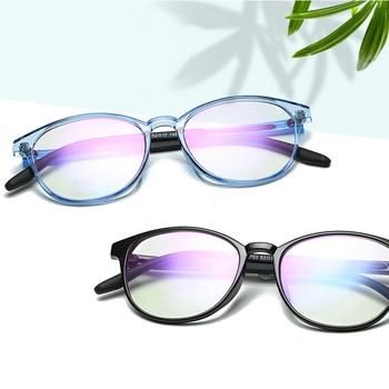 b381e7debc GLAUSA Ultralight TR90 Anti Blue-ray ordenador simple gafas de Color  gelatina lente transparente gafas