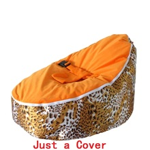 Get more info on the Just a Cover New Arrival Leopard Bean Bag Sofa for Baby Portable Infant Chair Dining Safety Kids Zitzak harness for protection
