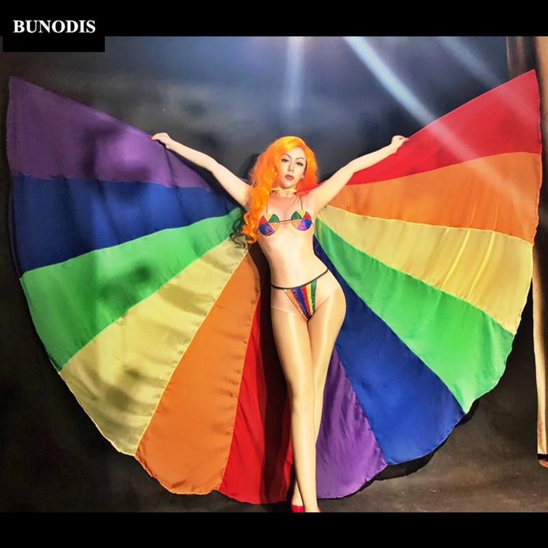 Série Coloré sans Stage Salopette Cristaux Danseur Nightclub Bu324 Mousseux Body Porter Sexy Femmes Chanteur Support wxgqtCaE
