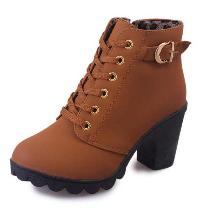 c991bcd111ff Plus Size 35 43 Winter Casual Women Pumps Warm Ankle Boots Waterproof High  Heels Snow Martin Shoes Botas Patent Botas Muje A05-in Ankle Boots from  Shoes on ...