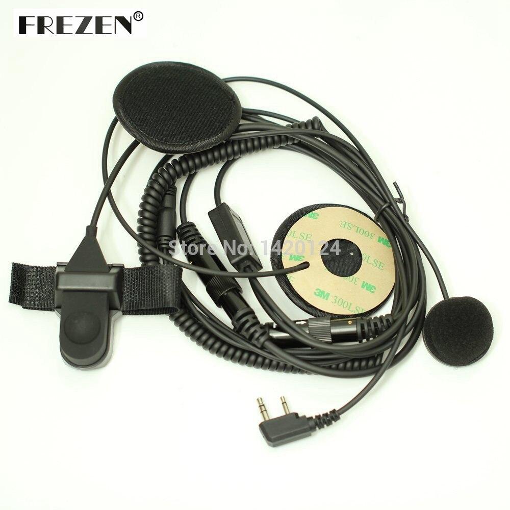 imágenes para F tipo de rostro completo bici de la motocicleta casco auricular headset micrófono micrófono 2-pin para icom maxon yaesu vertex radio