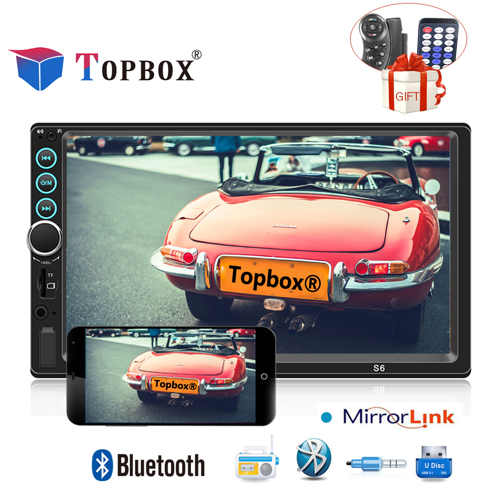 Topbox Car Multimedia Player 2Din Android Autoradio Car Radio Stereo Audio Media MP5 Player with IOS/Android Mirror Link Camera