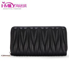 2017 Famous Women Wallet Large Capacity Trendy Party Bag England Style Wave Line Ladies Day Clutches Waterproof Card Holder Bag