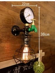 Retro loftowa lampa w kształcie rury do wody Edison kinkiet antyczny klasyczna ściana oprawy oświetleniowe do domu oświetlenie przemysłowe Lampara w Lampy ścienne od Lampy i oświetlenie na