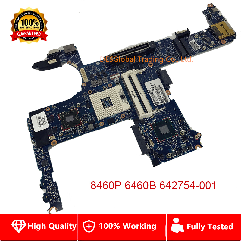 642754-001 Mainboard For HP 8460P 6460B Laptop Motherboard With Intel QM67 642754-501 642754-601 100% Working Fully Tested