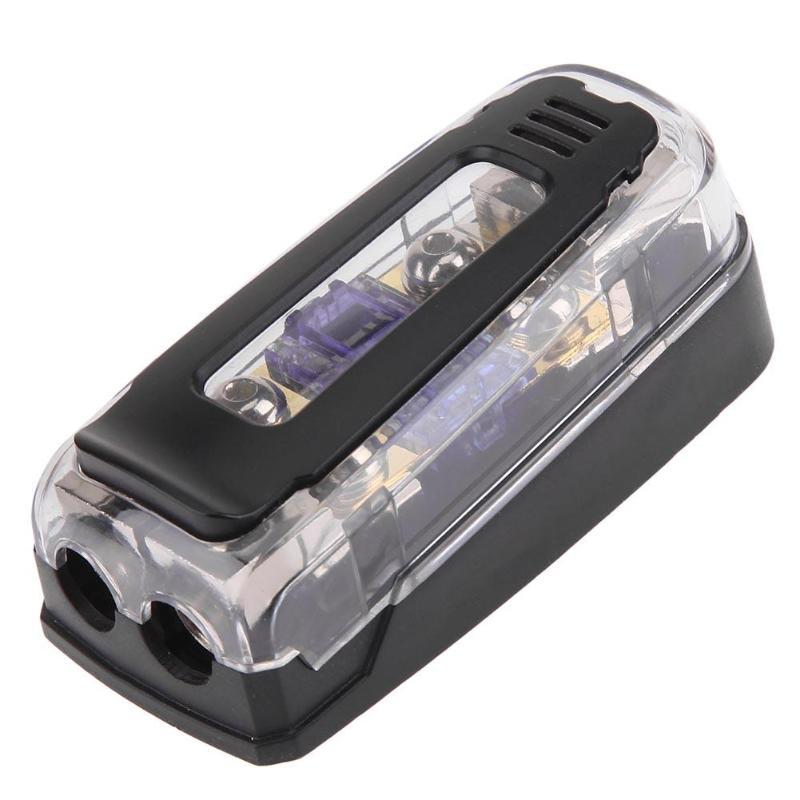 vodool 1 in 2 out 60a 12v 24v car stereo audio fuse holder. Black Bedroom Furniture Sets. Home Design Ideas