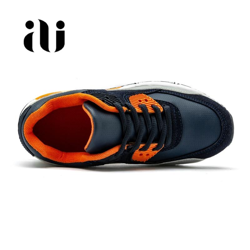 Image 5 - Новые детские повседневная обувь из кожи; обувь для бега для девочек кроссовки на воздушной подушке демпфирования мальчиков кроссовки, мягкая подошва; детская спортивная обувь-in Кроссовки from Мать и ребенок