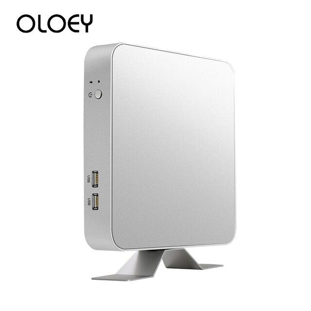 OLOEY Intel Core Mini PC i3 5010U 6100U 7100U i5 7200U i7 7500U Windows 10 Desktop PC 4K HDMI VGA 6x USB WiFi Office Computer
