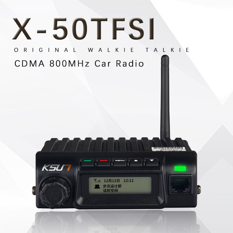 Public network X 50TFSI Car radio mini KSUN two way radio CDMA 800MHz Ricetrasmettitore 5W Stazione Radio Del Veicolo Mobile