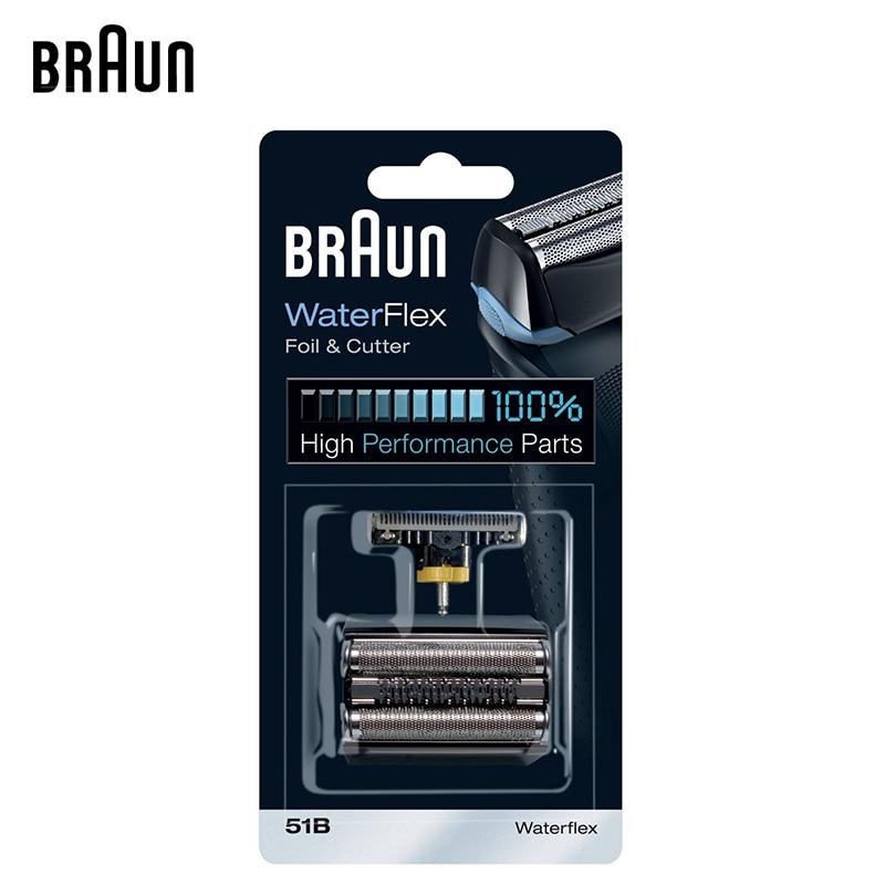 Braun 51B WaterFlex Foil & Cutter Higi Performance Part Shaver Head Replacement Suitable for WaterFlex WF1S WF2S 5760 5758 braun 51b