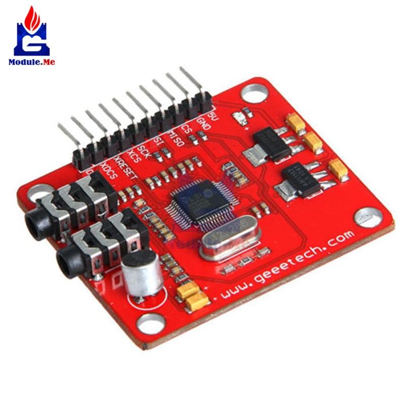 VS1053 VS1053B MP3 para Arduino UNO del tablero del desbloqueo con ranura para tarjeta SD VS1053B Ogg Grabación en tiempo Real para arduino UNO