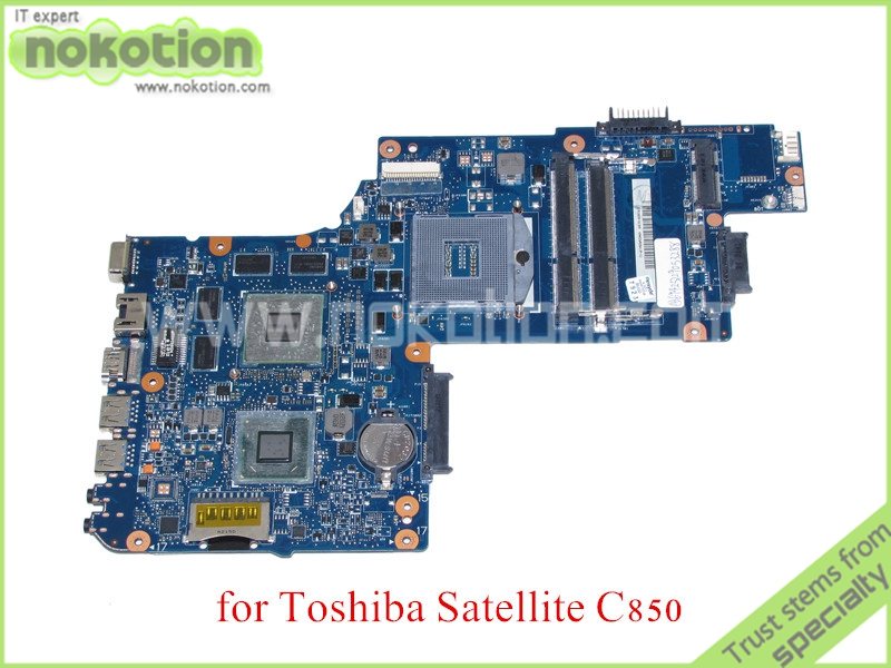 NOKOTION new H000038410 For toshiba satellite C850 Laptop motherboard HD4000 ATI HD7600M Graphics HM77 DDR3