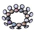 Profesional de Maquillaje Cosméticos Minerales Pigmento Sola Sombra de ojos Shimmer Metallic Nude Eye Shadow Powder Paleta Maquiagem