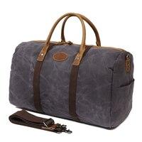 Vintage Military Large Capacity Travel Bag Men Hand Luggage Travel Duffle Bag Canvas HandBags For Male Waterproof Canvas Bag