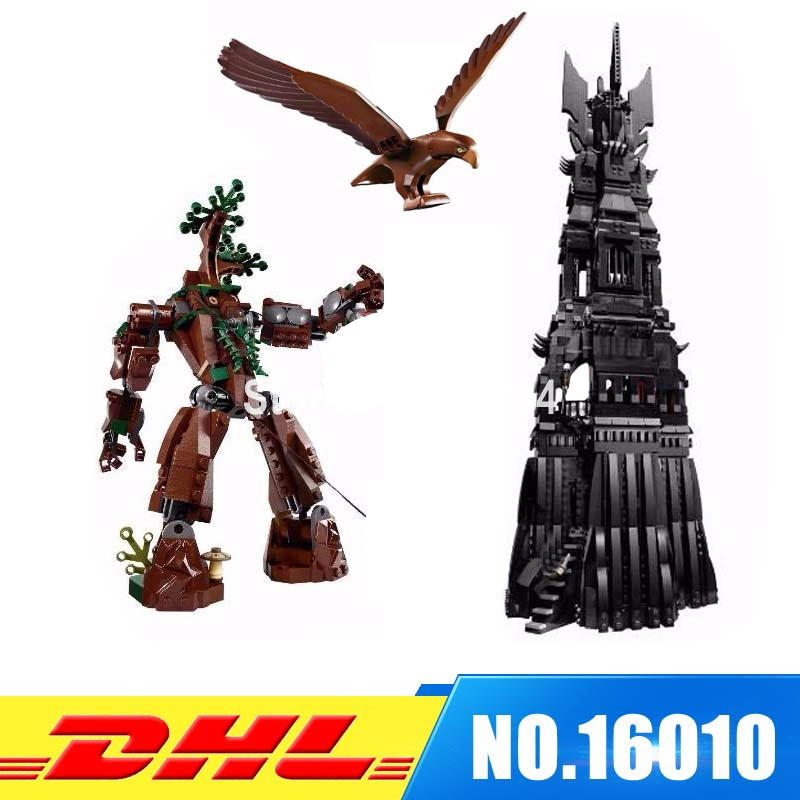 DHL Fit For 10237 LEPIN 16010 2430Pcs Lord of the Rings The Tower of Orthanc Model Building Kits Set Blocks Bricks Toys Gift hot sale the hobbit lord of the rings mordor orc uruk hai aragorn rohan mirkwood elf building blocks bricks children gift toys