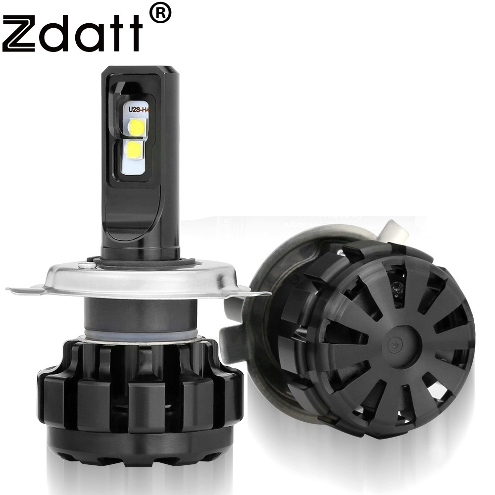 Zdatt 2Pcs Super Bright H4 Led Bulb 60W 9600Lm Auto Headlights Hi Lo Beam Car Led Light Moto 12V Conversion Kits Automobiles super bright car headlights led h4 4i lo