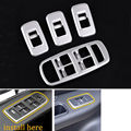 4Pcs Car Door Window Switch Panel Button Cover Frame Trims ABS Styling Sticker Fit for Jaguar XE 2016