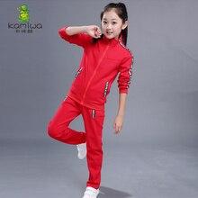 НОВЫЕ комплекты для девочек Демисезонный Курточка для девочки Цветочный спортивная куртка + брюки 2 шт. костюм комплекты одежды для девочек(China (Mainland))