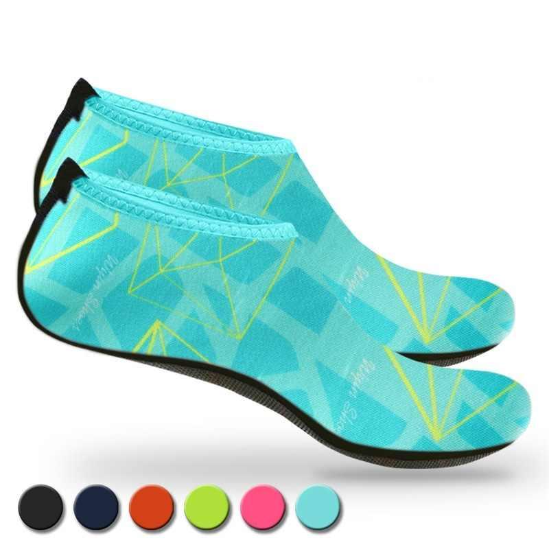 ว่ายน้ำรองเท้าน้ำผู้ชายผู้หญิงชายหาดรองเท้าแตะต้นน้ำรองเท้าUnisex Quickแห้งSurf Surfรองเท้าแตะถุงเท้าดำน้ำTenis Masculino