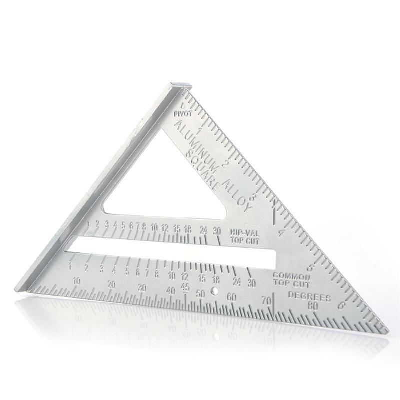 7 Inch Triangle Rule 90 degree Carpenter Measuring Tools Triangle Corner Carpenter Speed Square measuring instruments