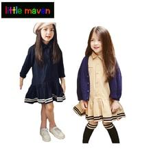 Spring Dresses for Girls Ruffles Hem Princess Girl Dress Baby Girl Clothes Vestido Infantil for Casual or School Kids Clothing
