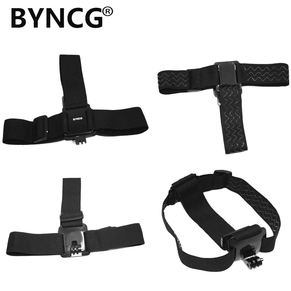 BYNCG Elastic Adjustable Harness Head Strap Mount Belt for GoPro HD Hero 1/2/3/4/5/6 7 SJCAM Black Action Camera Accessories f88 action camera black