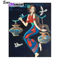 Ever Moment Diamond Painting Picture Of Rhinestone Woman Full Square Drill Decoration Diamond Embroidery Mosaic 5D DIY 3F120