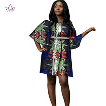 Fashion African Print Dresses for Women Bazin Riche Sexy Applique Lace  Dresses Long Tops Dashiki African Design Clothing WY3180 8c301166c342