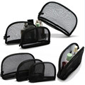 3Pcs Luxury Sexy Black Transparent Lace Mesh Makeup Organizer Bag Trendy Zipper Portable Travel Pocket Beauty Cosmetic Tool Kit