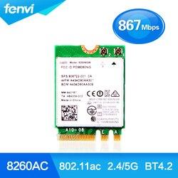 جديد ثنائي الموجات ل إنتل اللاسلكية-AC 8260 8260NGW NGFF 2x2 واي فاي 802.11ac 867 Mbps واي فاي + بلوتوث 4.2 Wlan بطاقة ويندوز 7 8 10