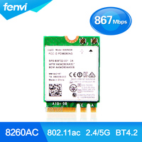 New Dual Band For Intel Wireless AC 8260 8260NGW NGFF 2x2 WIFI 802 11ac 867Mbps Wi