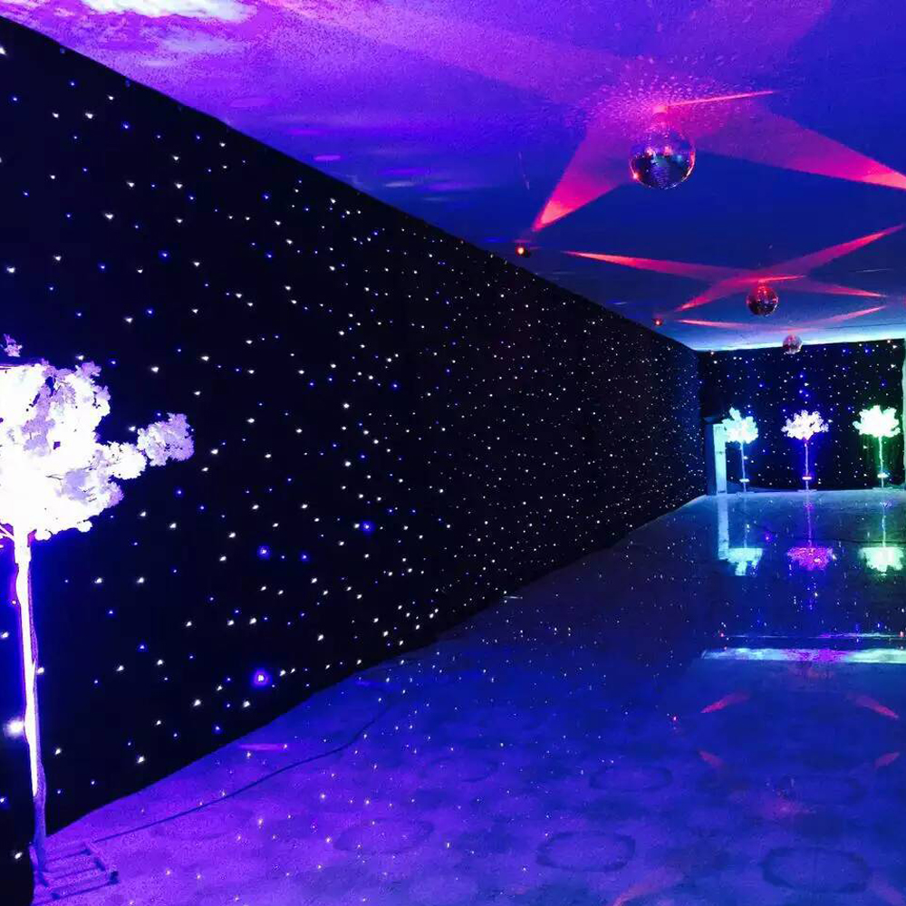 customized led star curtain for special wedding reception backdrop