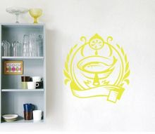Fish Seafood Vinyl Wall Decal  Sea Food Fish Lemon Dish Kitchen Cafe Mural Art Wall Sticker  Restaurant Kitchen Decoration