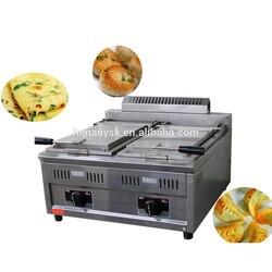 Wielofunkcyjny gazu handlowa 1/2 zbiornik Pan smażone mięso stół maszyny smażone pierogi smażenia frytownica Pan maszyna do w Rożny od AGD na
