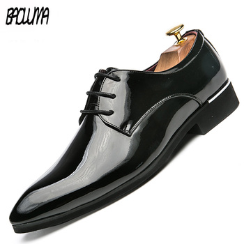 Men's Luxury Brand Leather Shoes British Business Suit Mens Shoes Moccasins Driving Leather Wedding Men Dress Shoes