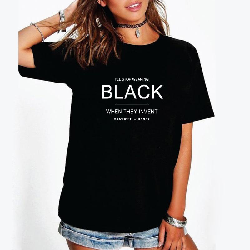 1460b920 EnjoytheSpirit Women T Shirt I'll Stop Wearing Black Tshirt Funny Tees with Sayings  Womens Birthday Gift for Her 100% Cotton