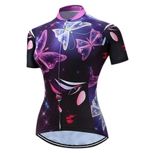 Butterfly Females Team Wear Outdoor Sports Cycling Jersey Spring Summer Bicycle short Sleeves MTB Clothing Roupa ciclismo