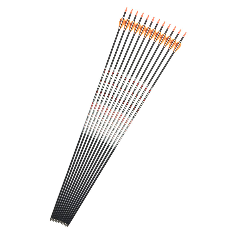 100pcs linkboy archery Carbon Arrows spine 500 600 700 800 with 80gr point Vanes pin Nock for Recurve Bow Hunting free shipping wholesale archery equipment hunting carbon arrow 31 400 spine for takedown bow targeting 50pcs