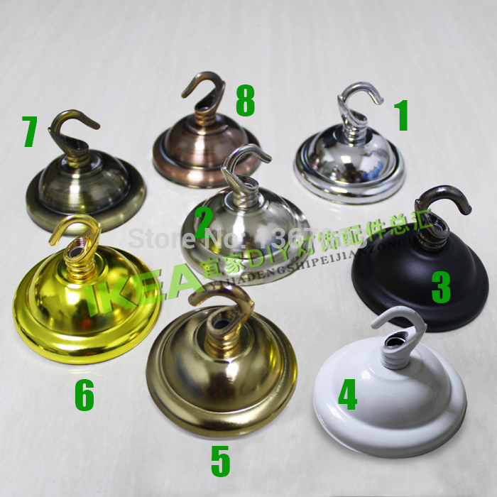 2pcs lot ceiling plate ceiling cover plate hook pendant for Plaque metal deco pour mur