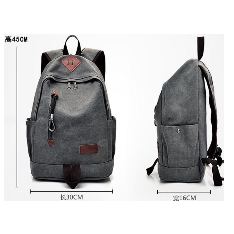Men's Bags Backpacks For Women 2018 Fashion Trend Backpack Mens Casual Canvas Backpack Retro Travel Bag High School Student Bags Hb08 Luggage & Bags