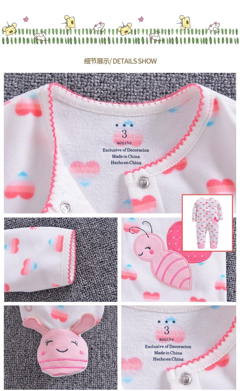 HTB1vW88Q9zqK1RjSZPcq6zTepXaA 2019 new Winter Fleece baby clothes baby girls boys Long sleeves bodysuit baby boy jumpsuit